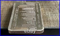 10 oz Silver Bar Wall Street Mint New York World Trade Center Twin Towers Sealed
