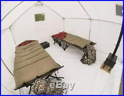 10' x 12' Canvas Wall Tent Reinforced Corners Stress Points Fire Retardant