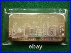 10oz Silver Bar Wall Street Mint New York Skyline World Trade Center Twin Towers