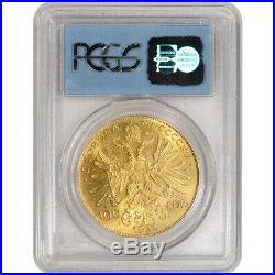 1915 Austria Gold 100 Coronas PCGS Gem Uncirculated WTC Ground Zero Recovery