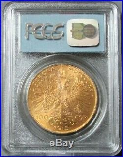 1915 Gold Austria 100 Corona Wtc Ground Zero Recovery Pcgs Gem Unc