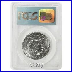 1961 Uruguay 10 Pesos Gaucho Silver Coin PCGS Gem UNC 9-11-01 WTC Ground Zero