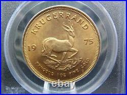 1975 South Africa Krugerrand 1oz Gold PCGS GEM 9-11-01 WTC Ground Zero Recovery