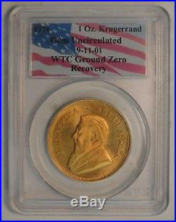 1976 K Rand 1 oz Gold 9-11-01 WTC GROUND ZERO RECOVERY PCGS GEM UNC Check Pics