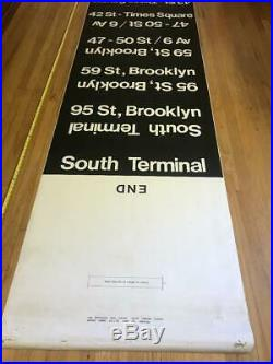 1980 Vintage NYC New York Subway Car Side Rollsign World Trade Center Brooklyn