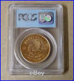 1980 WTC 911 Ground Zero 1 Oz Krugerrand Gold Coin PCGS Gem Uncirculated BINo
