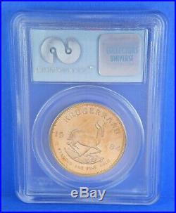 1984 WTC 911 Ground Zero Krugerrand 1 Oz Gold Coin South Africa GEM UNC PCGS