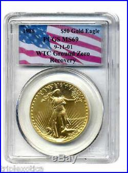 1986 PCGS MS69 WTC Recovery $50 Gold Eagle Very Rare ONLY ONE on eBay