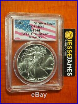 1987 Silver Eagle Pcgs Ms69 World Trade Center Wtc Recovery 9/11