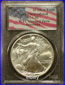 1989 911 American Silver Eagle Wtc Ground Zero Recovery Scarce