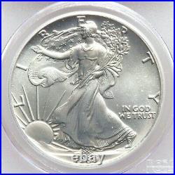 1989 PCGS MS69 Rare Bar Code Label Silver Eagle WTC 9/11 Ground Zero Recovery