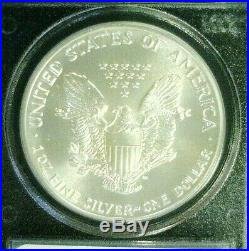 1989 Silver Eagle Wtc Trade Center Recovery 911 Pcgs Ms69 (3610nam)