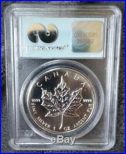 1989 World Trade Center WTC Recovery 9-11-01 Silver Maple Leaf PCGS Gem Unc Coin