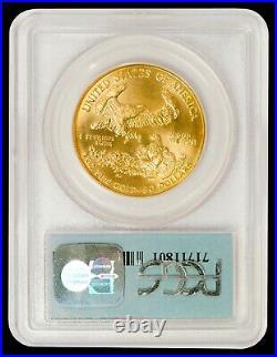 1991 1 oz $50 Gold American Eagle PCGS MS 69 (9-11-01 WTC Ground Zero Label)