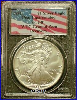 1991 911 American Silver Eagle Wtc Ground Zero Recovery Scarce