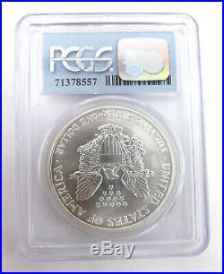 1991 American Silver Eagle PCGS MS 69 9-11-01 WTC Ground Zero Recovery L66