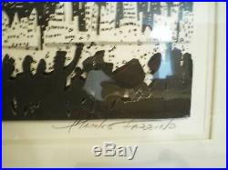 1991 Charles Fazzino Signed 3D Pop Art WTC NY NYC The City Silhouette 200