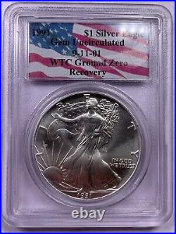 1991 PCGS Gem Uncirculated American Silver Eagle WTC 9/11 Ground Recovery