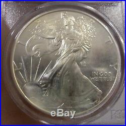 1993 $1 Silver Eagle Wtc Ground Zero Recovery Collectors Universe Pcgs Gem Unc