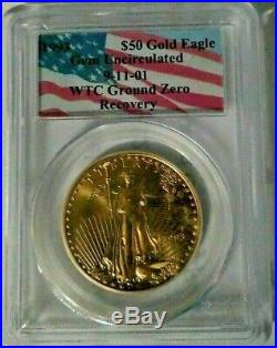 1993 $50 1 oz 911 AMERICAN GOLD EAGLE WTC GROUND ZERO RECOVERY PCGS