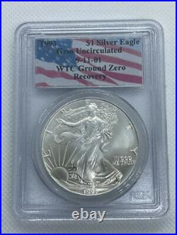 1993 American Eagle PCGS Gem Uncirciluated WTC Ground Zero Recovery