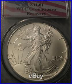 1993 MS68 Very Hard Find 9/11/01 AMERICAN SILVER EAGLE WTC GROUND ZERO RECOVERY
