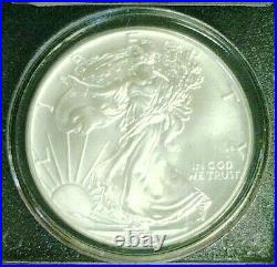 1993 Silver Eagle Wtc Trade Center Recovery 911 Pcgs Ms69 (3622nam)