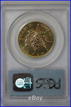 1998 $50 Gold Canadian Maple Leaf Gem Uncirculated PCGS WTC Ground Zero Recovery