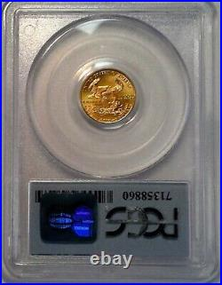 1998 $5 Gold Eagle MS69 WTC Ground Zero Recovery Certified PCGS 1/10oz