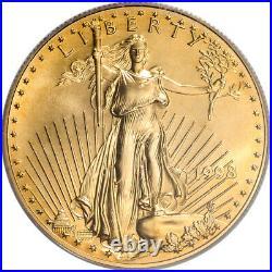 1998 American Gold Eagle 1 oz $50 PCGS MS69 WTC Ground Zero Recovery