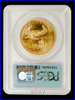 1999 1 oz $50 Gold American Eagle PCGS MS 69 (9-11-01 WTC Ground Zero Label)