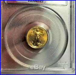 1999 $5 1/10 oz 911 GOLD EAGLE WTC GROUND ZERO RECOVERY PCGS MS69