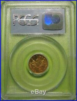 1999 $5 1/10 oz Gold Maple Leaf 9-11-01 WTC Ground Zero Recovery PCGS Gem BU