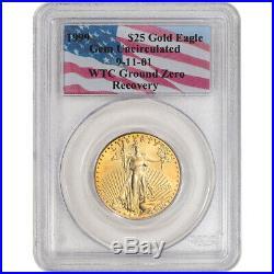 1999 American Gold Eagle 1/2 oz $25 PCGS Gem Unc WTC Ground Zero Recovery