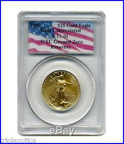 1999 PCGS $25 Gold American Eagle WTC Recovery 1 of only 17 recovered RARE
