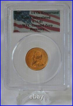 1/4 oz. Krugerrand Uncirculated WTC Ground Zero Recovery PCGS