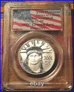 1 Of 190 Rare Wtc Trade Center Recovery USA Coin Platinum Pcgs Us Eagle 2001