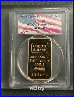 1 Of 426 World Trade Center WTC 9-11 Recovery Ground Zero Swiss Gold-Silver 1oz