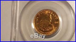 2000 1/4 Oz Gold Krugerrand PCGS Gem 9-11-01 WTC Ground Zero Recovery Coin