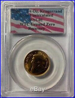 2000 1/4 Oz Gold Krugerrand PCGS WTC Ground Zero Recovery GEM