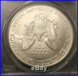 2000 1oz AMERICAN SILVER EAGLE 9/11 WTC GROUND ZERO RECOVERY PCGS GEM UNC