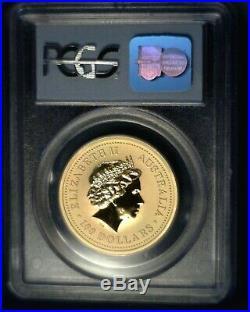 2000 Australia $100 Gold Nugget 9-11-01 WTC Ground Zero Recovery PCGS Gem Unc
