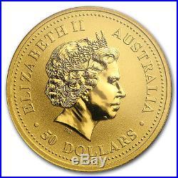 2000 Australia 1/2 oz Gold Nugget Gem Unc PCGS (WTC Ground Zero)