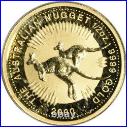 2000 Australia Gold Kangaroo 1/2 oz $50 PCGS Gem Unc WTC Ground Zero Recovery