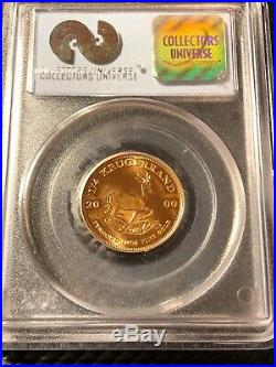 2000 Gold South Africa 1/4 Krugerrand Coin Wtc Ground Zero Recovery Pcgs Gem Unc