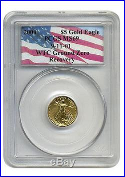 2000 PCGS MS-69 $5 Gold American Eagle WTC Recovery 1 of only 13 recovered