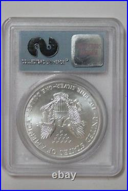 2000 Silver Eagle $1 PCGS Gem Uncirculated WTC Ground Zero Recovery (3162391M4)