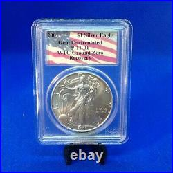 2001American Silver Eagle WTC Ground Zero Recovery 9-11-01 PCGS Gem Unc