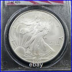 2001 1 OZ American 1oz Silver Eagle Coin ASE PCGS GEM Ground Zero WTC Recovery