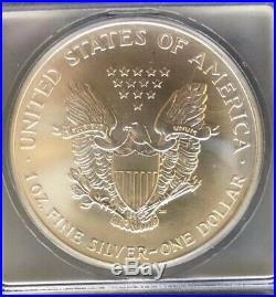 2001 $1 Silver Eagle 9-11-01 WTC Ground Zero Recovery ICG MS 69
